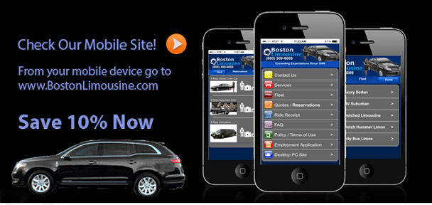 Boston Limousine Mobile Site