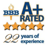 Wedding Limo A+ rating on BBB
