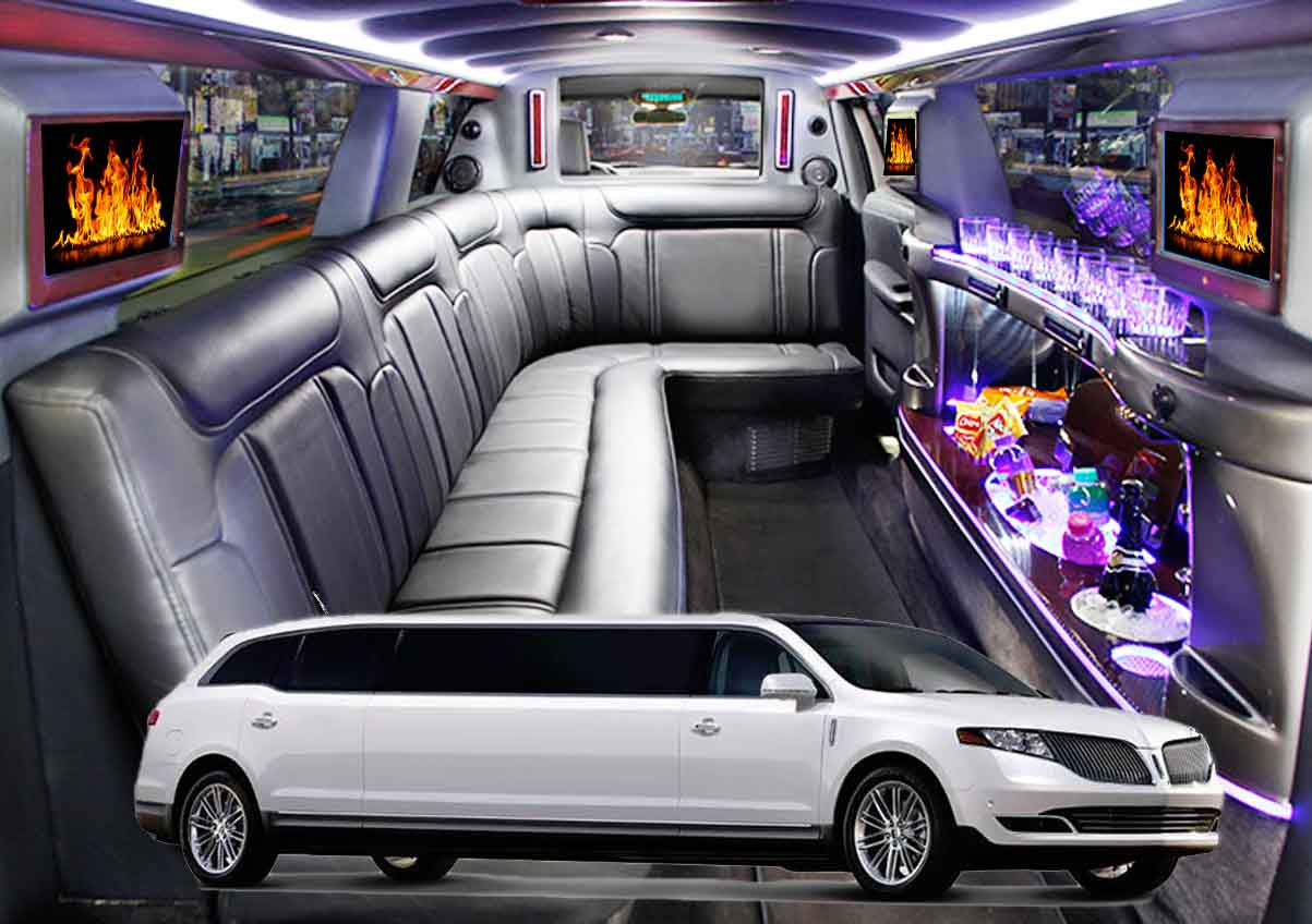 Hourly Car Rental >> Stretch Limousine 10 Passengers - Traditional White Stretch Limo